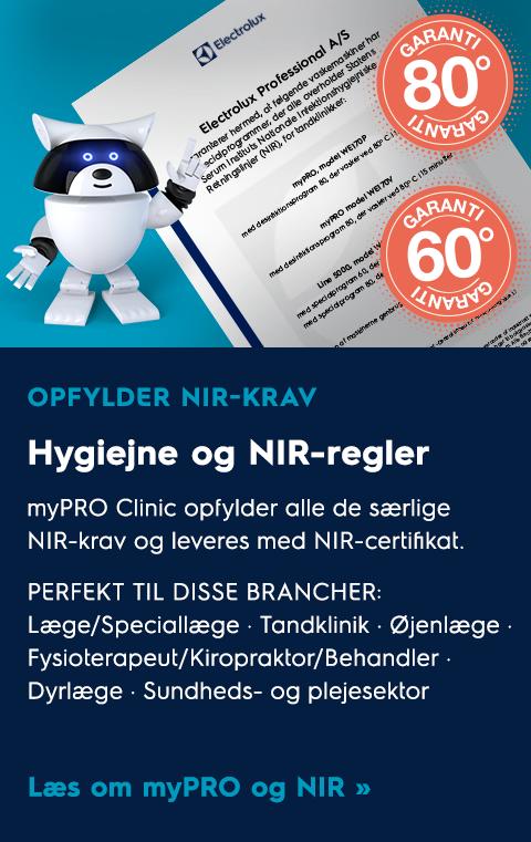 Hygiejne og NIR-regler er i top med myPRO – den smart professionelle vaskemaskine