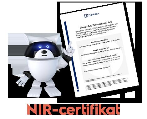 Electrolux NIR-certifikat