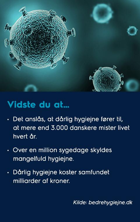 Vidste du at om hygiejne – få bugt med bakterierne
