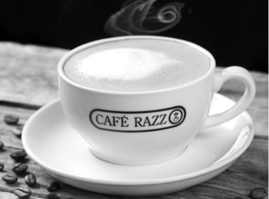 Café Razz kaffe kop