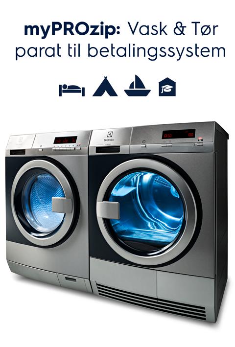 myPROzip Vask & Tør parat til betalingssystem